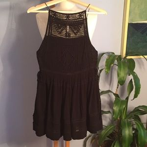 Free People Crochet Top Mini Dress